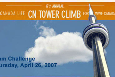 Climbing the CN Tower for the WWF