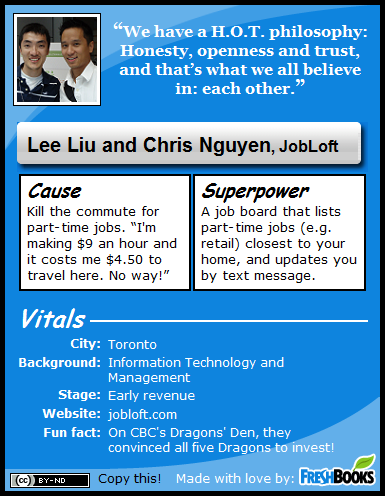 Chris Nguyen and Lee Liu, JobLoft