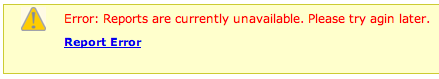 PayPal error message