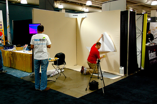 FreshBooks Trade Show Booth - The Beginning