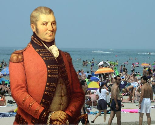 Colonel John Graves Simcoe at Wasaga Beach