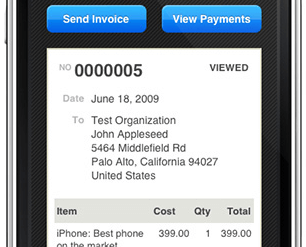 FreshBooks Deliciously on the iPhone