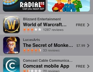 iPhone App Store features MiniBooks!