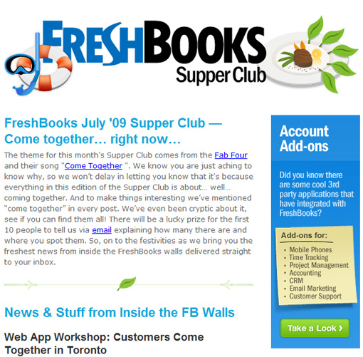 FreshBooks Supper Club from July, 2009