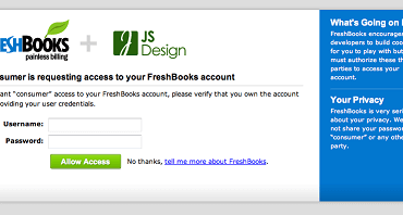 FreshBooks Now Supports OAuth