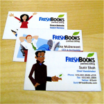 FreshBooks business cards with caricatures