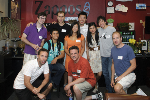 Hanging out in the Zappos foyer