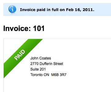 Paid invoice - FreshBooks