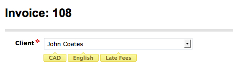 late payment fees FreshBooks client name