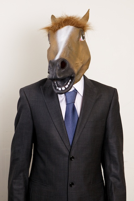 David as Horse Head Business Guy