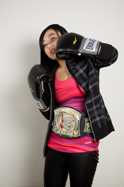 Rae as a Wrestling Boxer