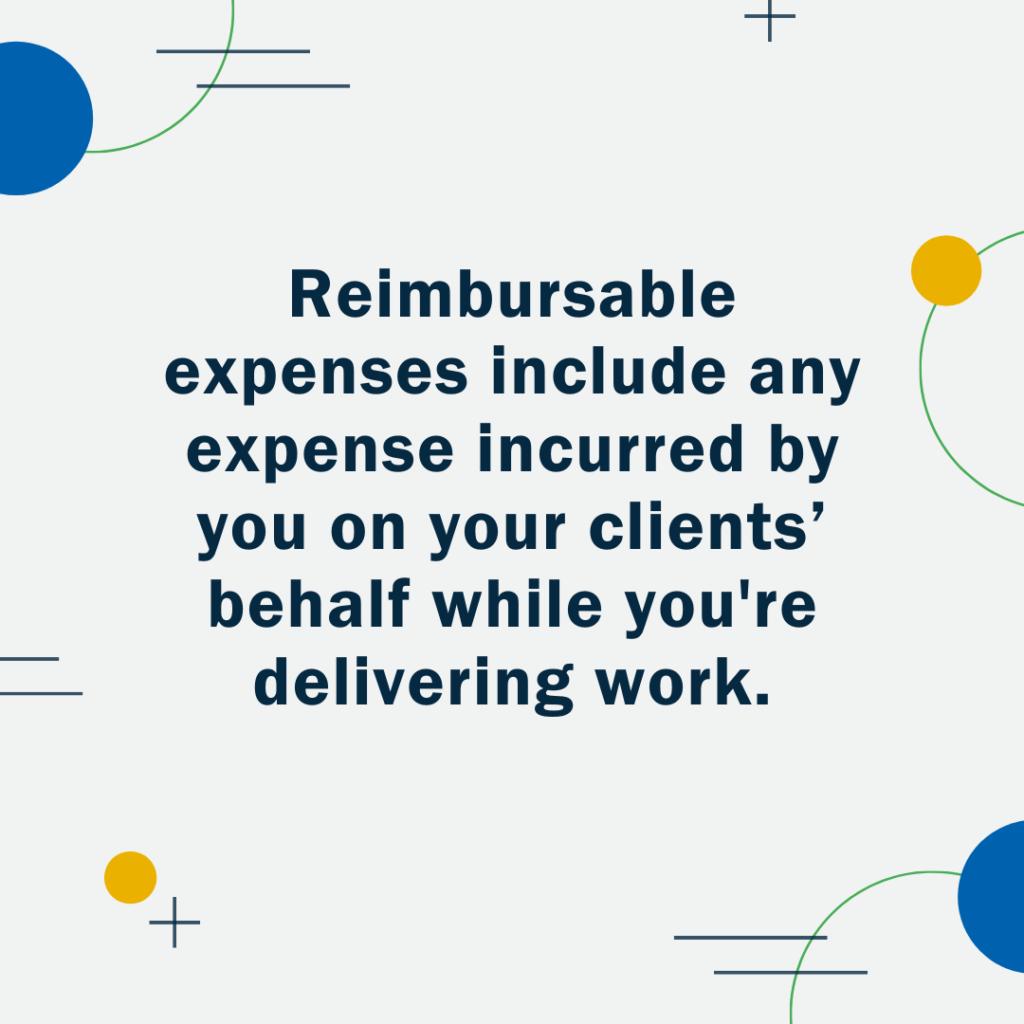 Definition - Reimbursable Expenses