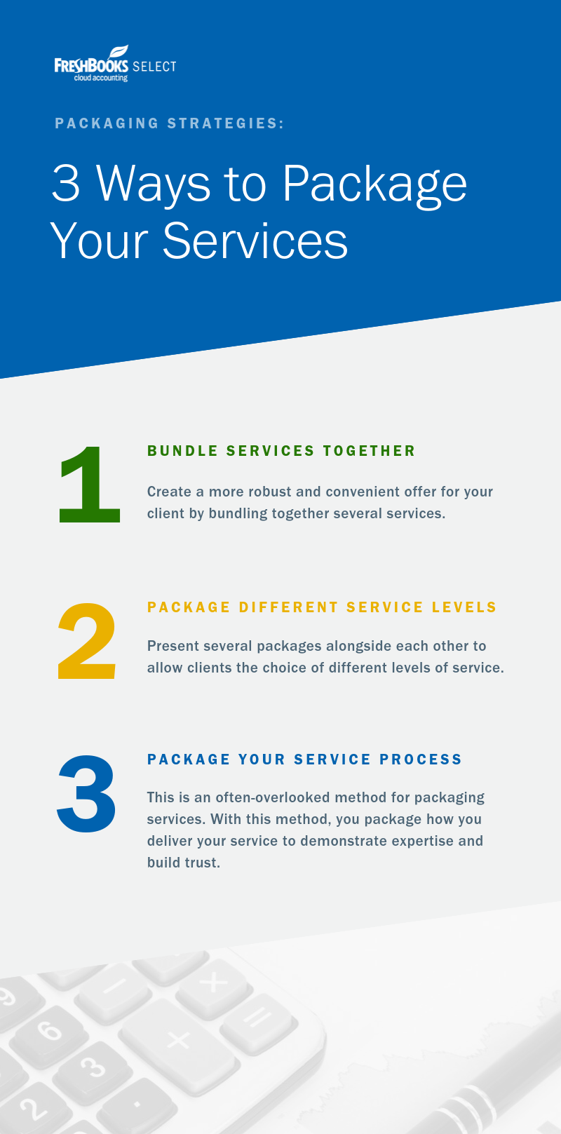 3 Ways to Package Your Services