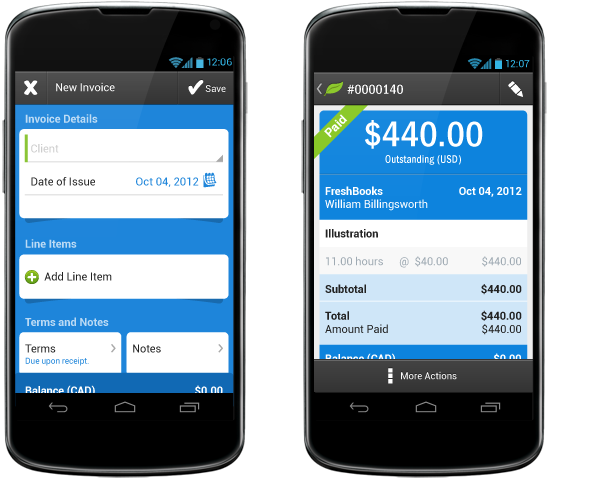 Freshbooks Brings Accounting App To Android IT Business - Invoice app reviews