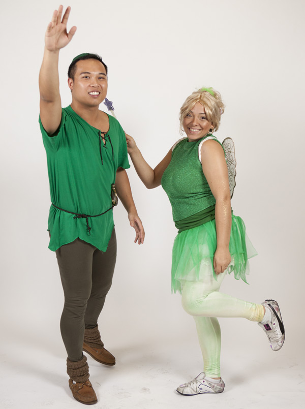 sherwyn and joelle as peter pan and tinkerbell