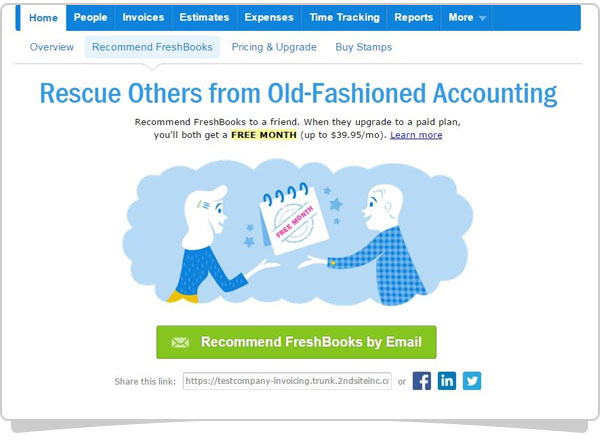 Recommend FreshBooks