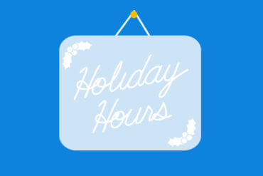 Holiday Hours: December 24 - January 4