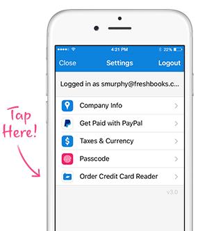 Order Credit Card Reader