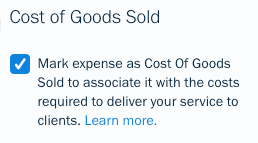cost of goods sold for services