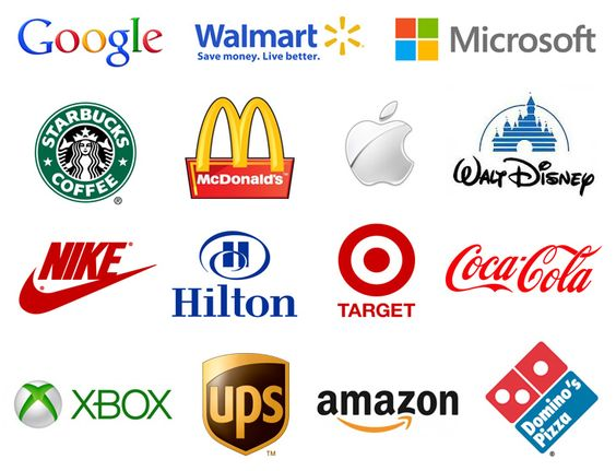 Examples of the most recognizable logos in the world.