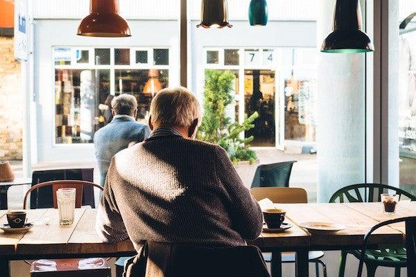 Gentleman in coffee shop