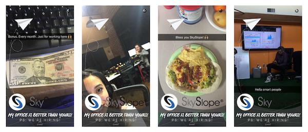 Skyslope / snapchat