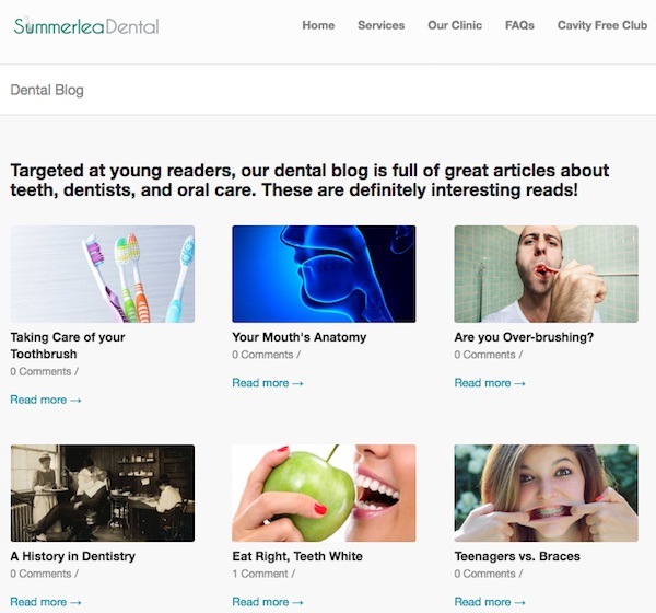 Content Marketing / Summerlea Dental