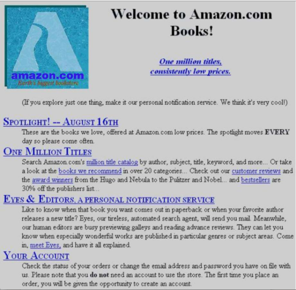 Amazon at launch