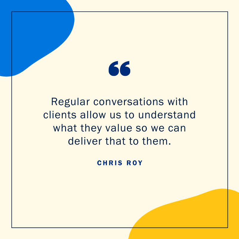 Chris Roy web design quote