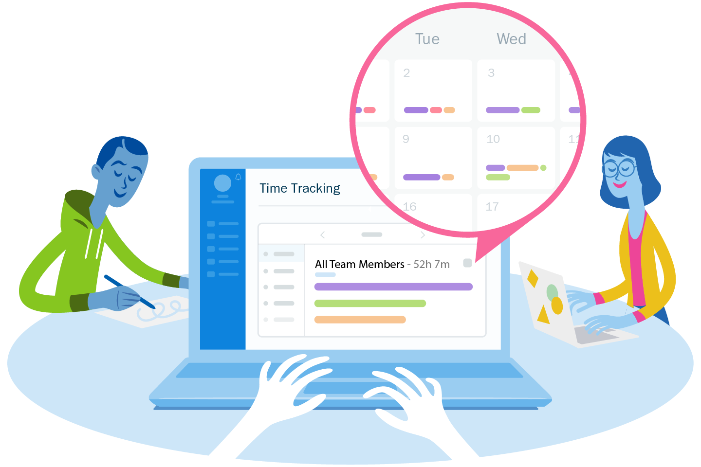 New: Easily Review Logged Hours with Team Time Tracking on FreshBooks