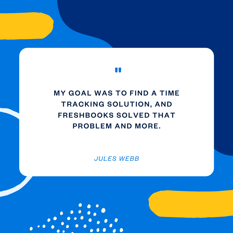 Jules Webb freelance web developer quote