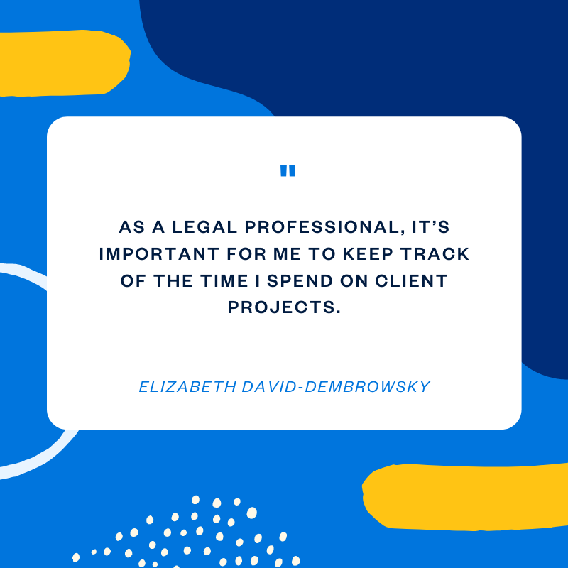 Elizabeth David-Dembrowsky legal services professionals quote