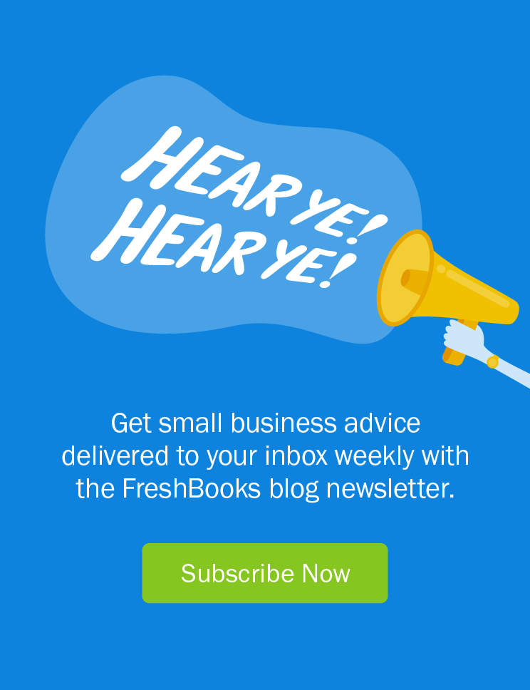Sign up for the FreshBooks Blog Newsletter