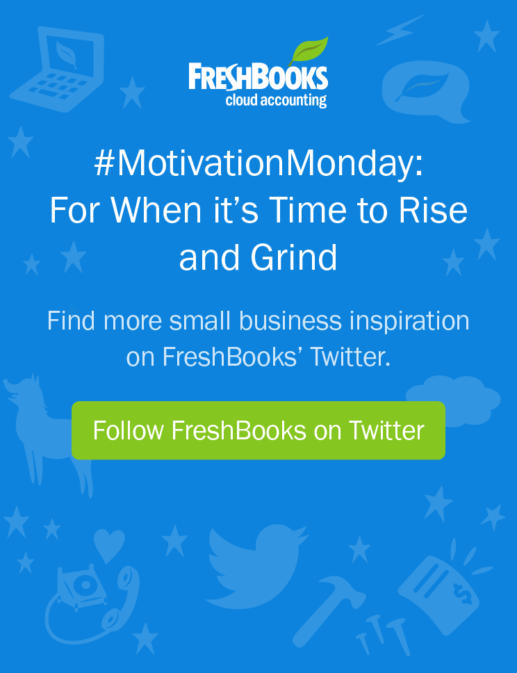 Follow FreshBooks on Twitter
