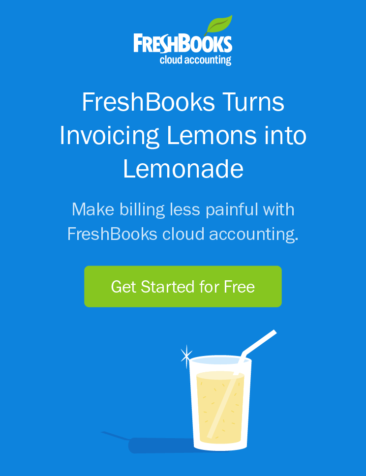 FreshBooks turns invoice lemons into lemonade – get started for free