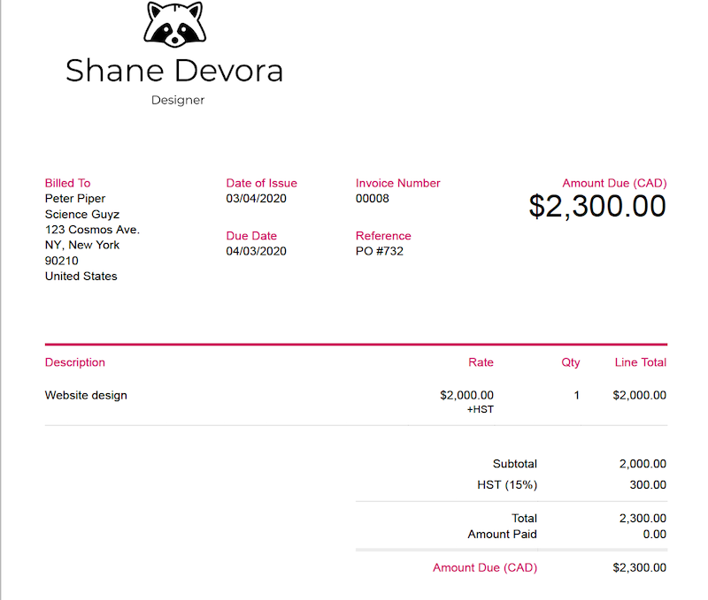 create your own logo invoice FreshBooks