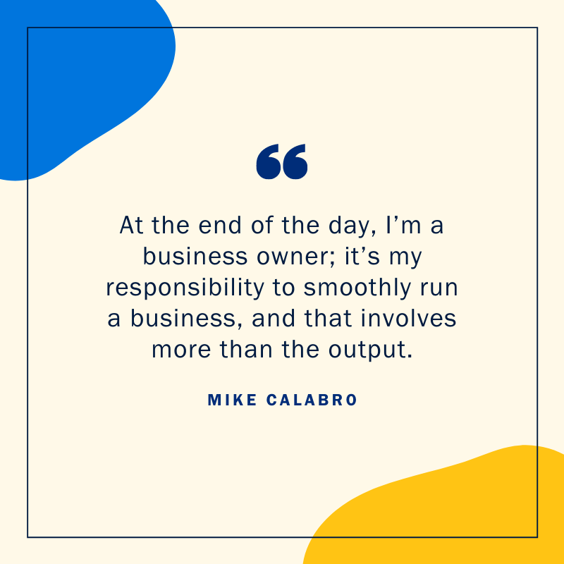 Mike Calabro client base quote