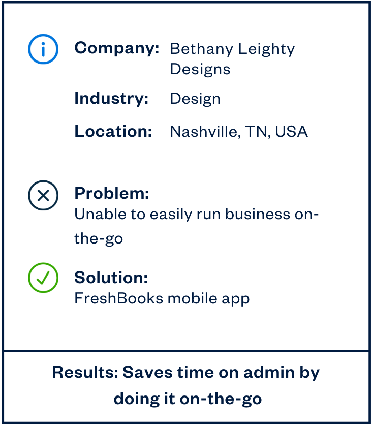Bethany Leighty cloud accounting mobile app sidebar