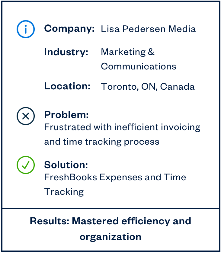 Lisa Pedersen Media accounting software sidebar