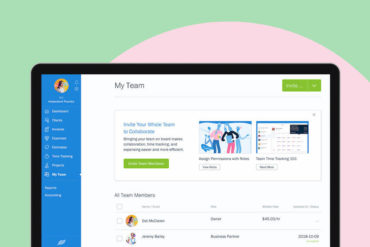 New & Improved in FreshBooks: Navigation Menu