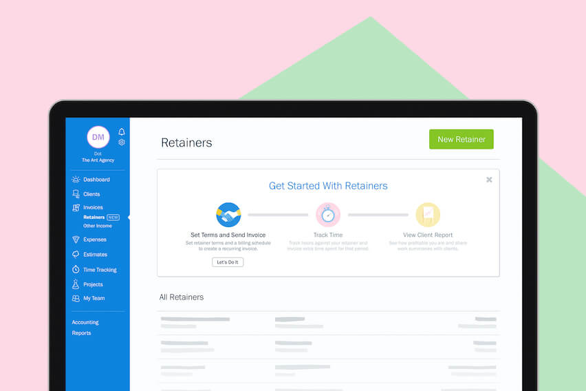 New & Improved in FreshBooks: Retainers, Integrations, Invoice Lists and More
