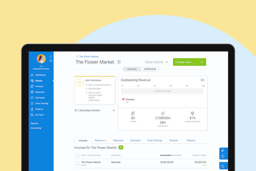 New & Improved in FreshBooks: Client Hub, Message Center and More