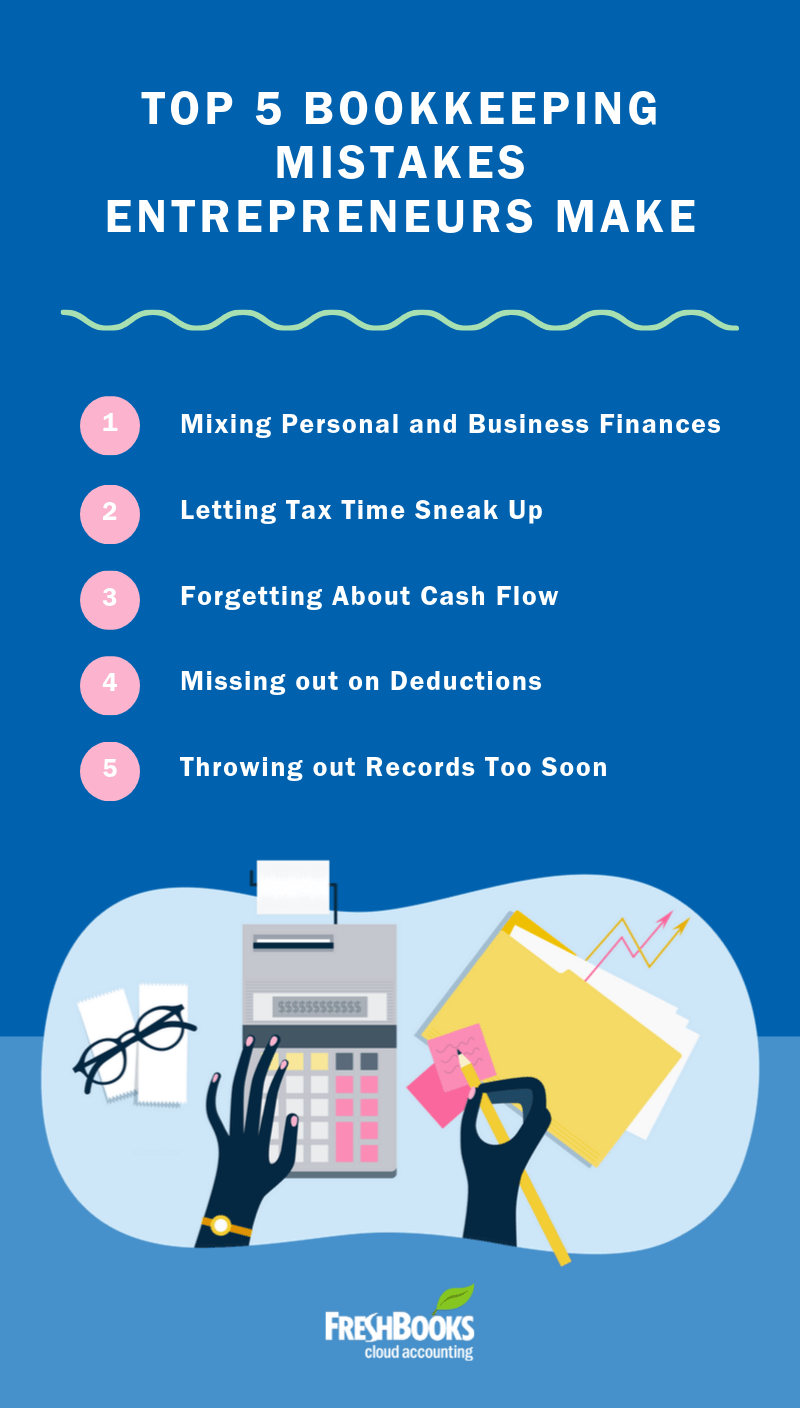 5 Bookkeeping Mistakes