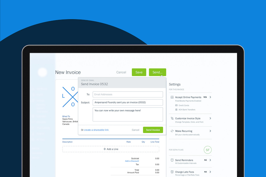 New & Improved in FreshBooks: Redesigned Report Filters, Custom Invoice Emails and More