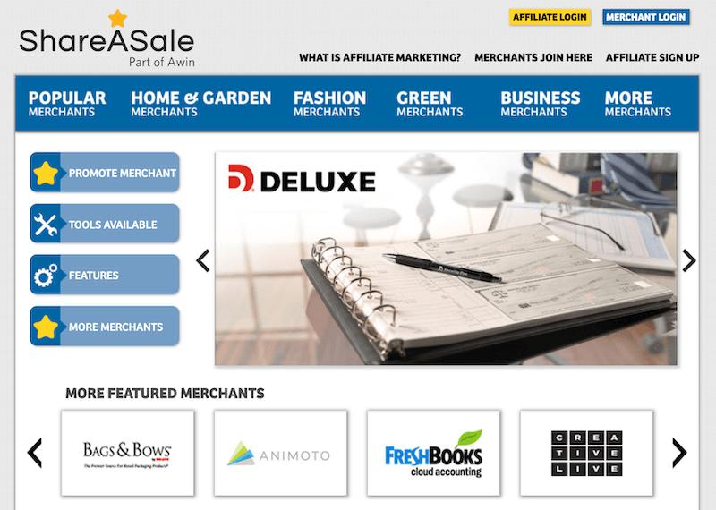 affiliate marketuing - shareasale