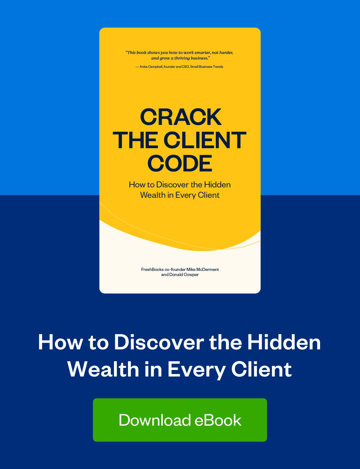 crack the client code ebook ad