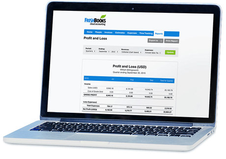Financial reporting in FreshBooks