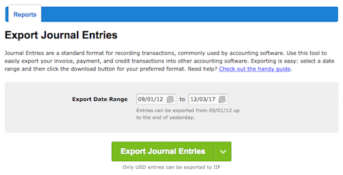 Accountant's log in showing access to journal entries.