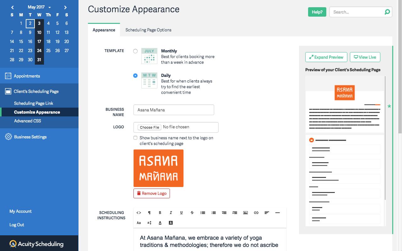 Customize Appearance
