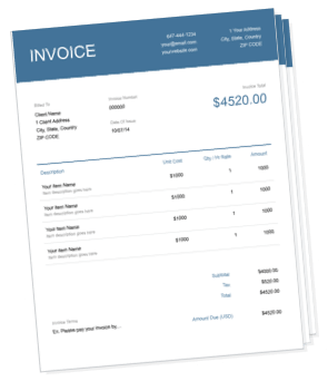 Invoice Templates FreshBooks - Easy invoice system